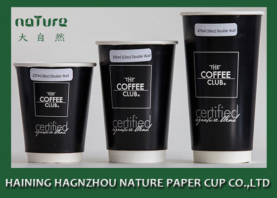 China Large Personalised Paper Cups , Double Layer Disposable Paper Cups For Hot Drinks supplier