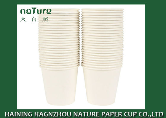 China Disposable Plain Single Wall Paper Cups Poly Lined BPA Free Flexo Printing supplier