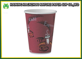 China Cold Drinking 12 Ounce Paper Cups , Disposable Paper Coffee Cups With Plastic Lids supplier