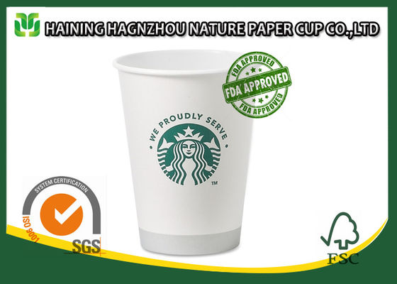 China Single Wall Branded Paper Coffee Cups Food Grade Full Colour Printing supplier