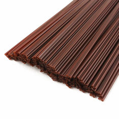 Brown Color Stirring Hot Beverage Straws PP Material Two Holes Design