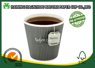 China 4 Oz Recyclable Ripple Wall Paper Cups Takeout Type For Supermarkets supplier