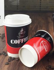 Paper Mug Plastic Coffee Lids , Food Grade White Coffee Lids Environmental Protection