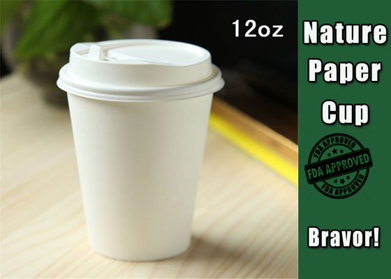 Eco Friendly 12 Oz Double Wall Paper Cups Takeaway Type For Hot Drinking