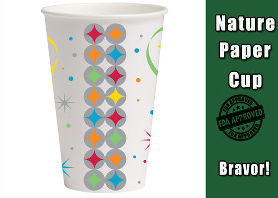 China 9 Ounce Custom Takeaway Coffee Cups With Logo Printing Multi - Colors supplier