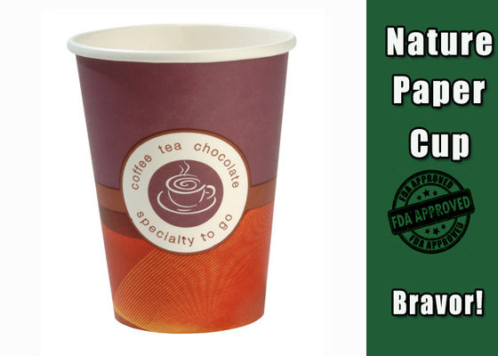China Waterproof Biodegradable Paper Coffee Cups 10 Oz Colorful Eco - Friendly supplier