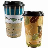 China PE Coated Paper Takeaway Smoothie Cups 16 Ounce Double Wall With Accurate Printing supplier