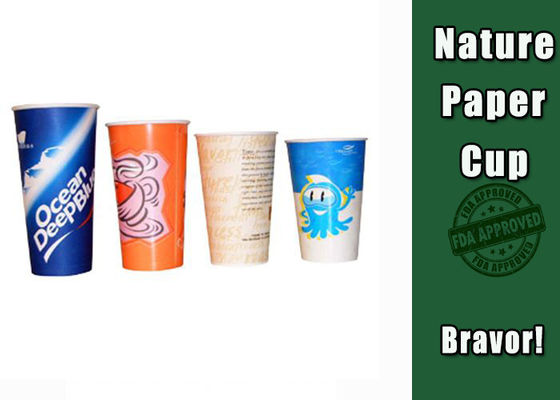 China Double PE Coated Cold Drink Cups Food Grade For Coffee Shops / Offices supplier