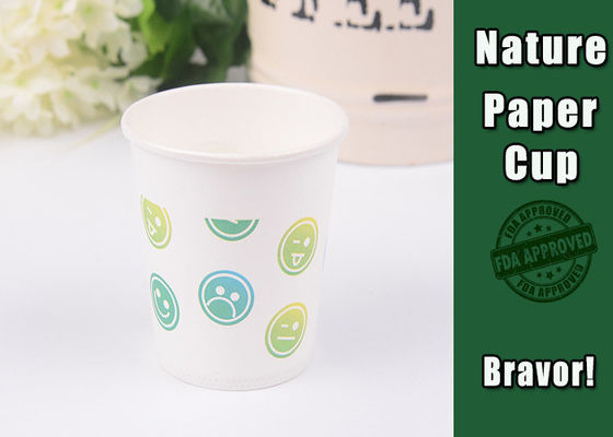 China 300ml Disposable Vending Paper Cups White Color With Heat Insulation supplier