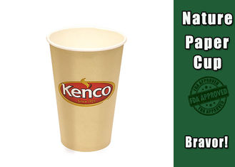 Eco Friendly 16 Oz Vending Paper Cups No Smell PE Coating Paper Material
