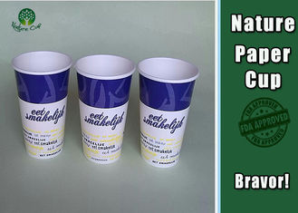 China PE Coated Insulated Paper Coffee Cups , Insulated Hot Cups Three Layer Structure supplier