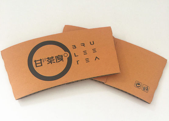 Kraft Paper Wedding Coffee Sleeves , Custom Printed Coffee Sleeves With Logo