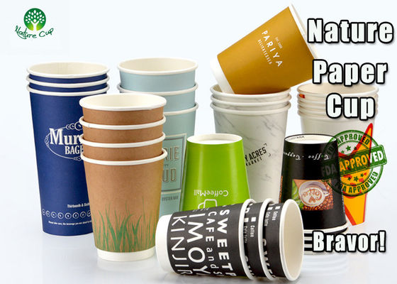 Colorful Custom PLA Paper Cups Accurate Printing For Vending Machines