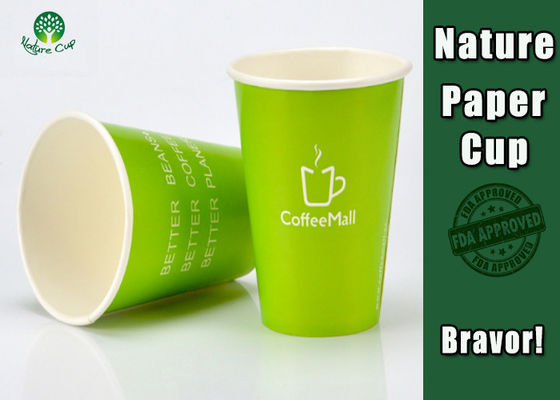 Healthy Compostable Coffee Cups , Disposable Espresso Cups For Hot Beverage