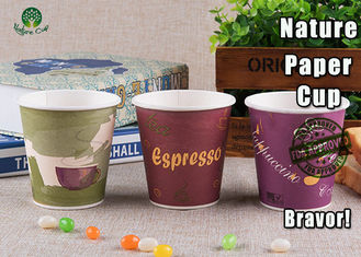 Takeaway 8 Oz Pla Paper Coffee Cups , Disposable Paper Soup Cups With Lids
