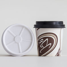 Paper Cups Disposable Coffee Lids 80mm / 90mm Diameter For Hot Drinks