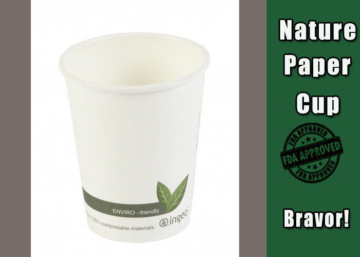 3830a64e423 Impervious 8 Oz Hot Paper Cups For , Hot Drink White Plain Eco Paper ...