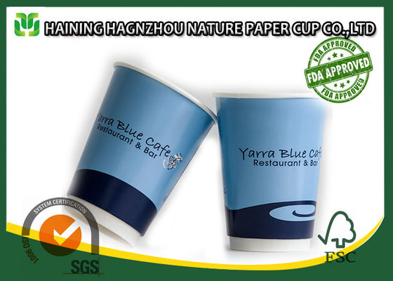 China 400ml Reusable Double Wall Paper Cups Custom Printed For Hot Drinks factory