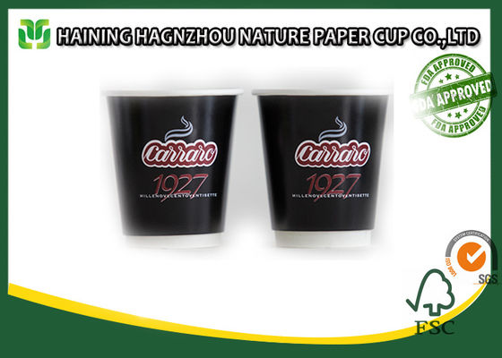 China Double Wall Takeaway Coffee Cups , Food Grade Kraft Paper Coffee Cups For Milk / Tea factory