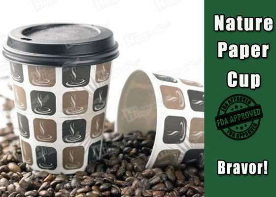 China Insulated Custom Printed Coffee Mugs , Disposable Coffee Cups With Lids And Sleeves factory