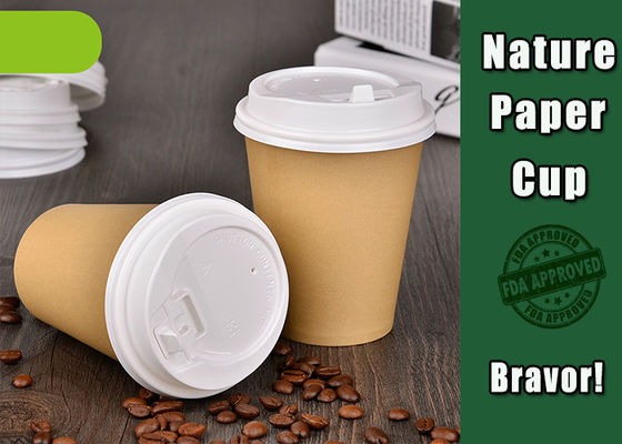 China Recyclable Disposable Hot Drink Cups 8 Oz Food Grade With Custom Logo factory