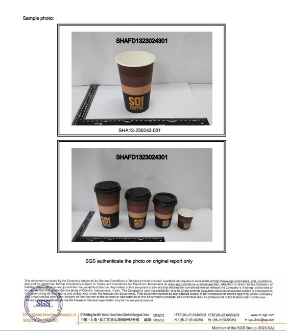Good quality Single Wall Paper Cups for sales