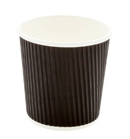4 Oz Recyclable Ripple Wall Paper Cups Takeout Type For Supermarkets