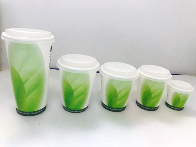 Biodegradable PLA Paper Cups Custom Printed 12 Oz ISO9001 Certification