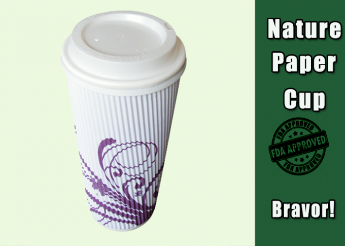 Colorful Printed Takeaway Coffee Cups 16 Ounce Food Grade PE Coating Paper