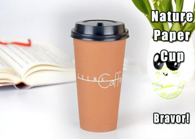PE Coating Paper Hot Drink Cups 16 Ounce Custom Printed With SGS Standard