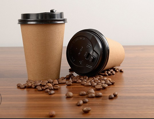 Skid Resisting Kraft Paper Cups 300ml Food Grade Printing For Coffee / Tea