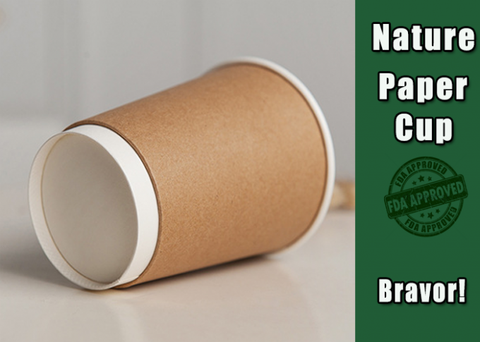 Promotional Thick Kraft Paper Cups Disposable With Custom Logo Printing