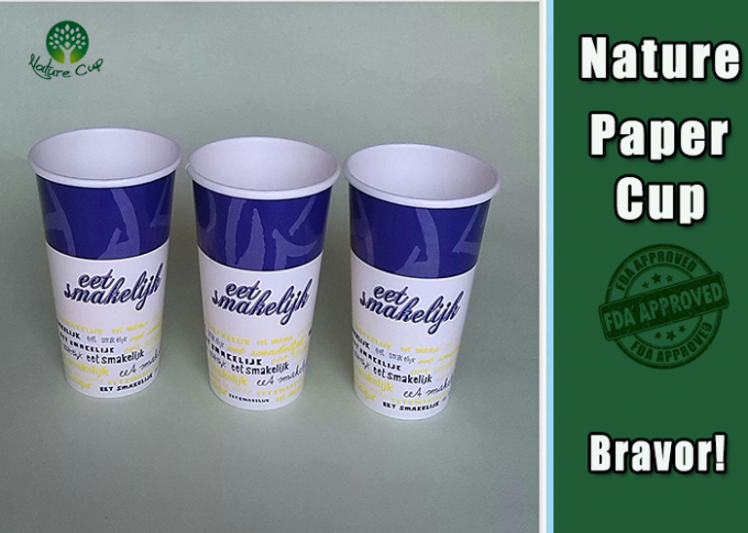 PE Coated Insulated Paper Coffee Cups , Insulated Hot Cups Three Layer Structure